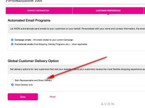 Your Avon eRepresentative Website – Representative Delivery vs. Direct Delivery