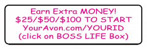 Avon Brochure Label - Earn Extra Money