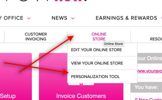Click on Personalization Tool