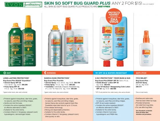 Avon Fundraising Bug Guard Flyer C-08-26, 2017