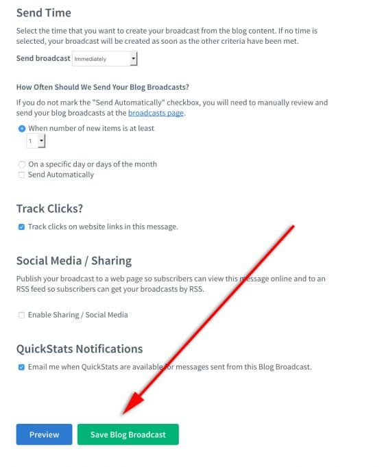 Create A Blog Broadcast For Your Blog Using AWeber