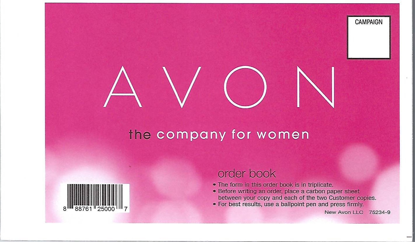 how to use the avon order book to handwrite orders