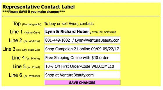 Lynn Huber Campaign Mailer Label