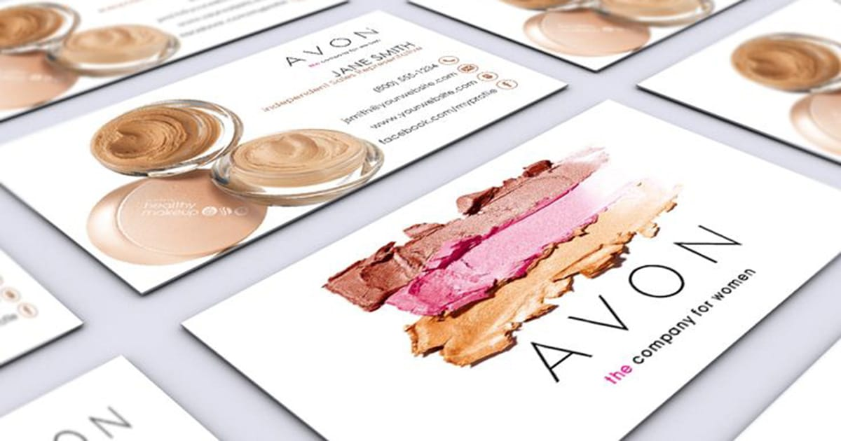 Business cards to promote your avon business onlinebeautybiz reheart Choice Image