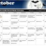 October 2019 Social Media Posts Calendar