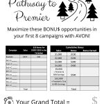 Avon Pathway to Premier Tracking Form