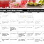 August 2020 Social Media Posts Calendar