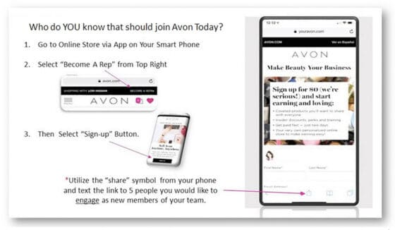 How to Share Your Avon Signup Page
