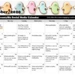October 2020 Social Media Posts Calendar