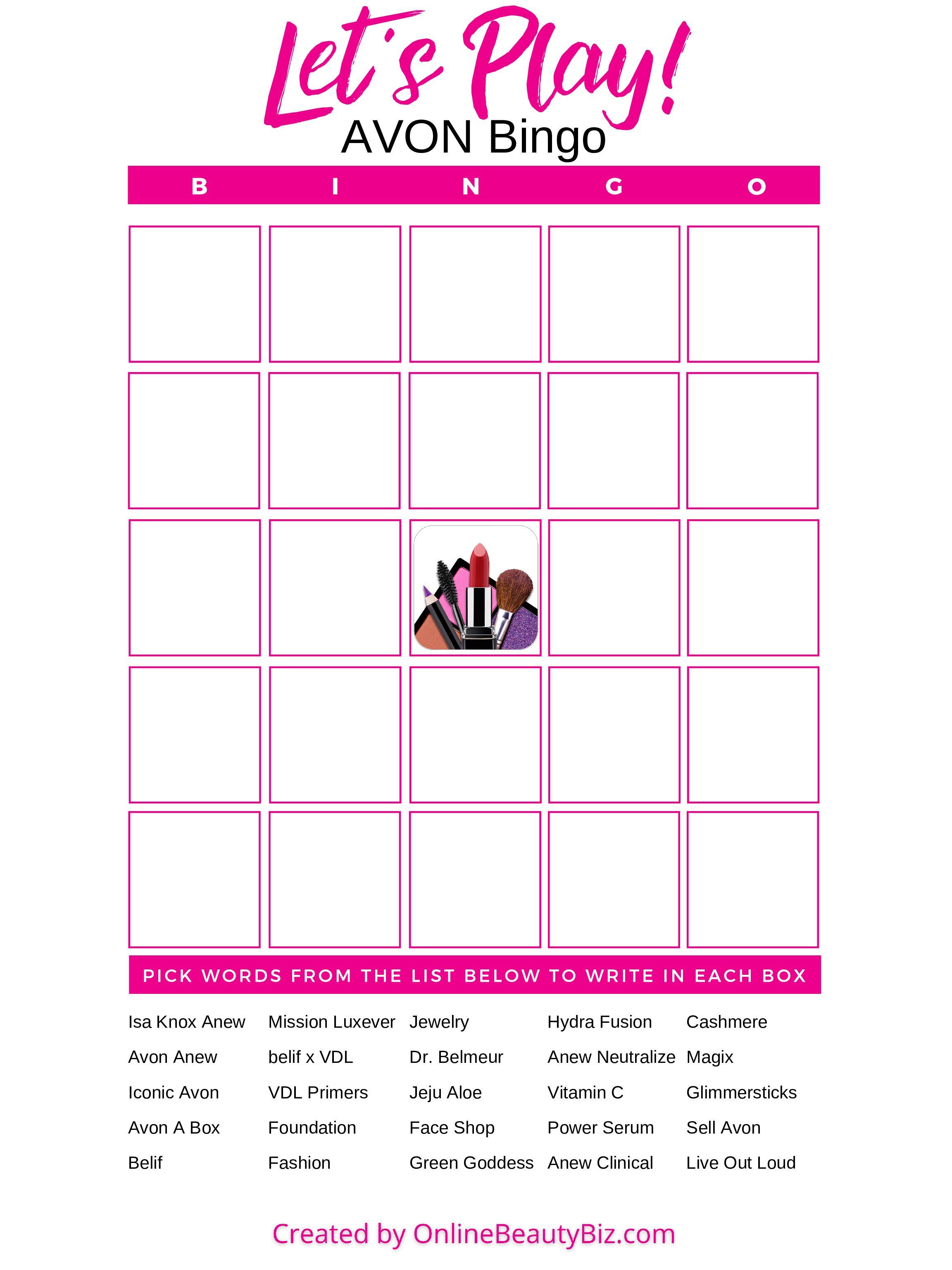 Avon-Bingo-Template-OnlineBeautyBiz