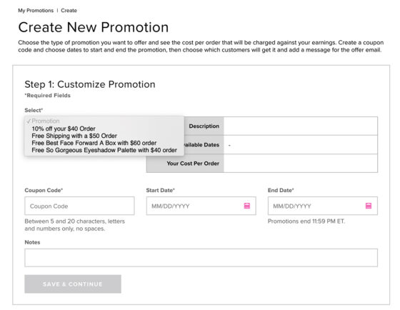 Create a New Promotion