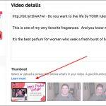 Edit YouTube Video Details