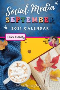 September 2021 Social Media Posts Calendar